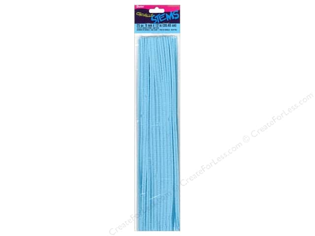 Darice Chenille Stems 6 mm x 12 in. Light Blue 25 pc.
