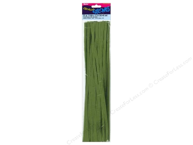Chenille Stems by Darice 6 mm x 12 in. Moss Green 25 pc.