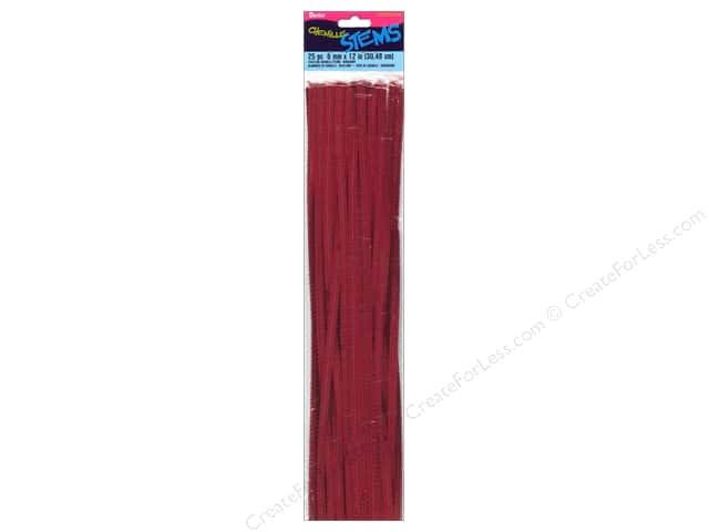 Chenille Stems by Darice 6 mm x 12 in. Burgundy 25 pc.