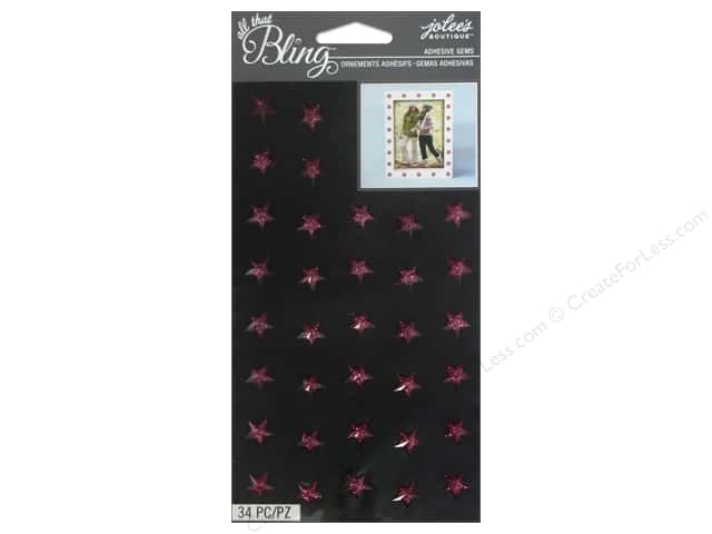 Jolee's Boutique Stickers Bling Gems Sparkle Star Pink