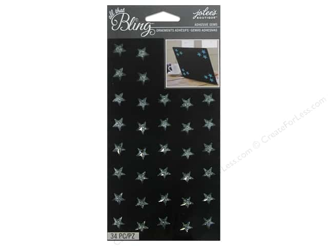 Jolee's Boutique Stickers Bling Gems Sparkle Star Mint