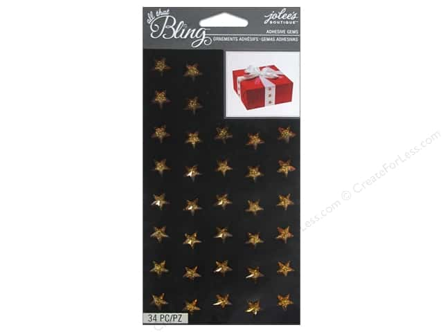 Jolee's Boutique Stickers Bling Gems Sparkle Star Gold