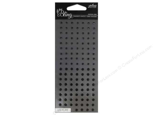 Jolee's Boutique Stickers Bling Gems Mini Round Black