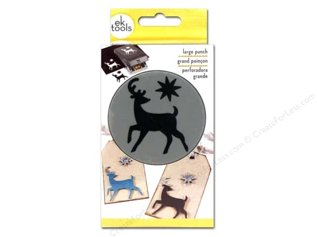 EK Success Large Punch Elegant Deer 1 3/4 in.