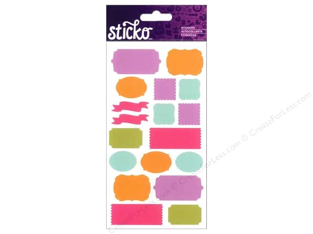 EK Sticko Stickers Labels Bright Solid