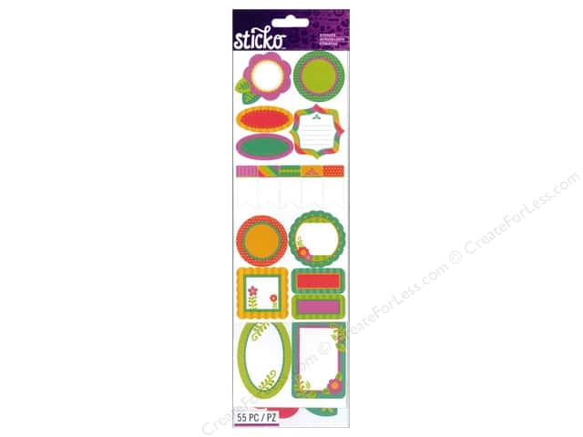 EK Sticko Stickers Labels Value Pack Organization Bright