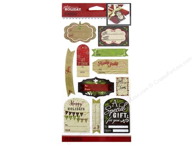Jolee's Boutique Stickers Holiday To From Label