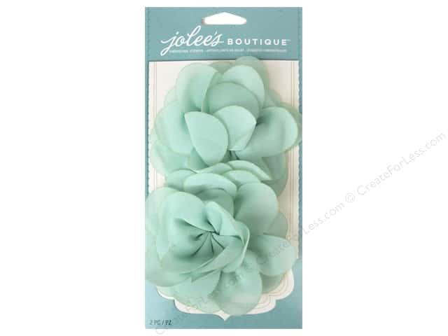 Jolee's Boutique Stickers Le Fleur Flower Mint