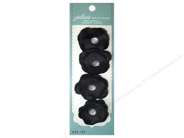 Jolee's Boutique Stickers Le Fleur Flower Mini Black