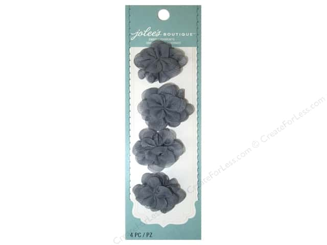 Jolee's Boutique Stickers Le Fleur Flower Mini Grey