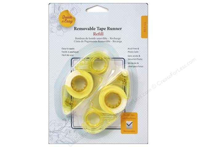 3L Quick & Easy Tape Runner Refill 2 pc. Removable