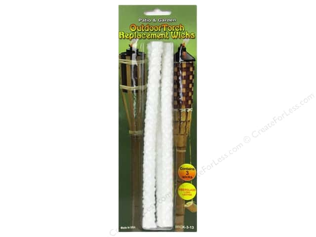Pepperell Candle Wick Replacement Outdoor Torch 3pc
