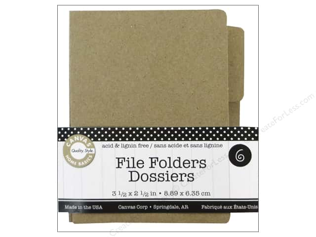 Canvas Corp File Folders 3 1/2 x 2 1/2 in. Naked Kraft 6 pc.