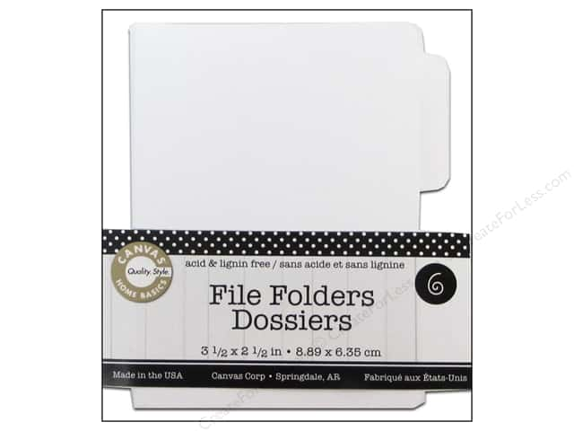Canvas Corp File Folders 3 1/2 x 2 1/2 in. Naked White 6 pc.