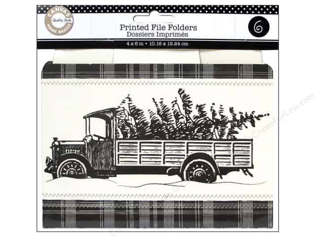 Canvas Corp Printed File Folders 4 x 6 in. Farmhouse Christmas