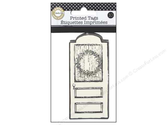 Canvas Corp Printed Tags 10 pc. Farmhouse Christmas Holiday Door