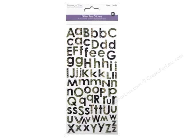Multicraft Sticker Alphabet Glitter Reptile