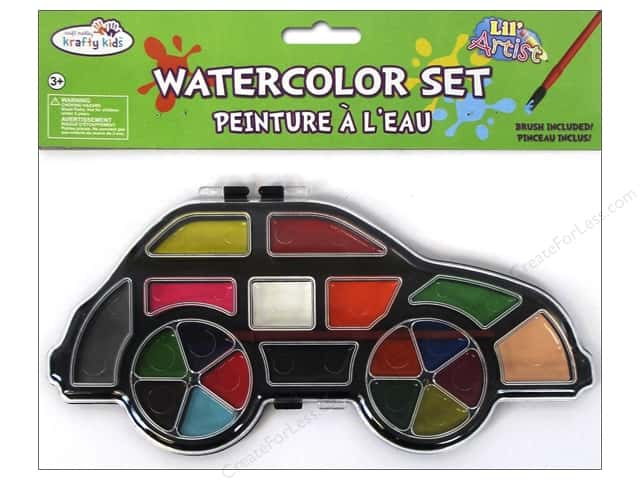 Multicraft Krafty Kids Lil Artist Watercolor Set With Brush Car