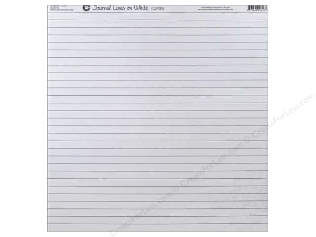 Canvas Corp 12 x 12 in. Paper White Journal Lines (15 sheets)