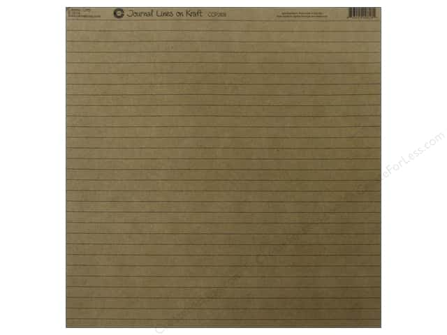 Canvas Corp 12 x 12 in. Paper Kraft Journal Lines (15 sheets)