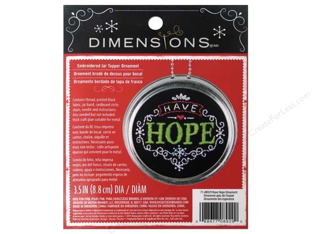 Dimensions Embroidery Kit Ornament Chalkboard Have Hope