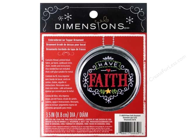 Dimensions Embroidery Kit Ornament Chalkboard Have Faith