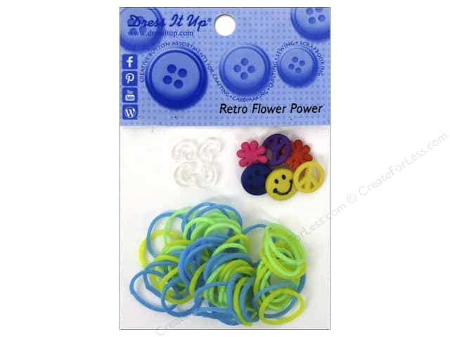 Jesse James Kit Rubber Bands Retro Flower Power
