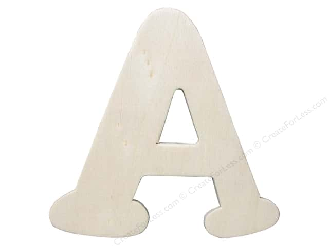"Darice Unfinished Wood Letter 4 1/4 in. ""A"""