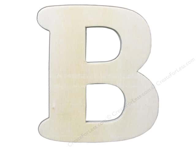 "Darice Unfinished Wood Letter 4 1/4 in. ""B"""