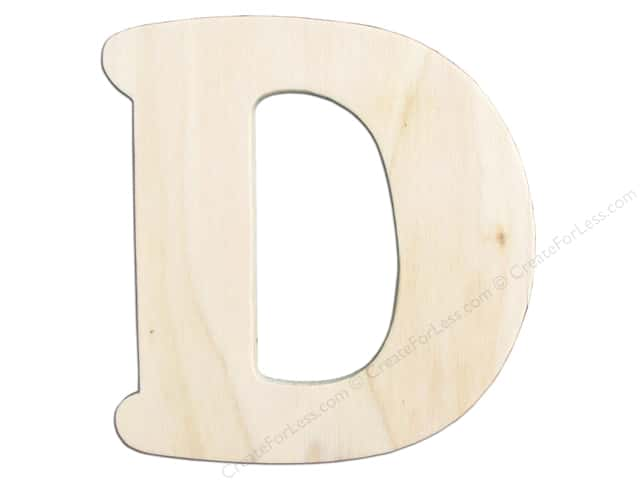 "Darice Unfinished Wood Letter 4 1/4 in. ""D"""