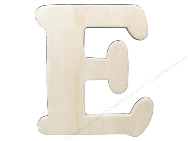 "Darice Unfinished Wood Letter 4 1/4 in. ""E"""