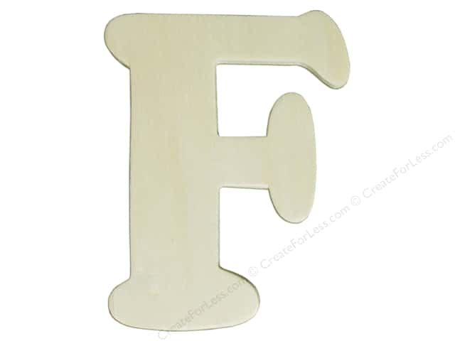 "Darice Unfinished Wood Letter 4 1/4 in. ""F"" (12 pieces)"