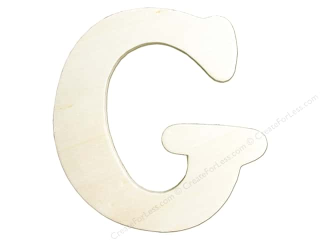 "Darice Unfinished Wood Letter 4 1/4 in. ""G"""