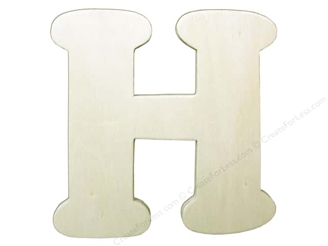 "Darice Unfinished Wood Letter 4 1/4 in. ""H"""
