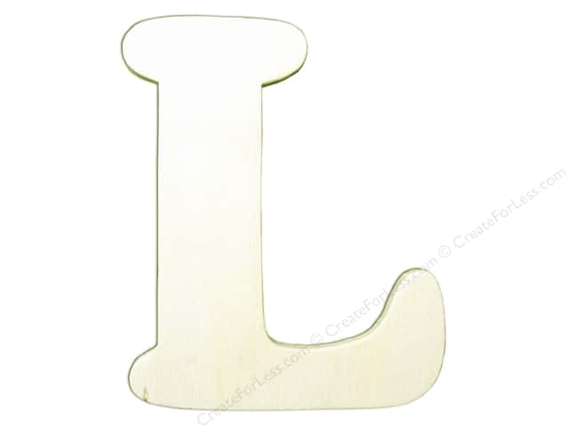 "Darice Unfinished Wood Letter 4 1/4 in. ""L"" (12 pieces)"
