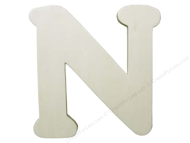 "Darice Unfinished Wood Letter 4 1/4 in. ""N"""