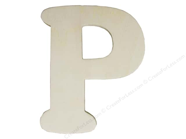 "Darice Unfinished Wood Letter 4 1/4 in. ""P"""