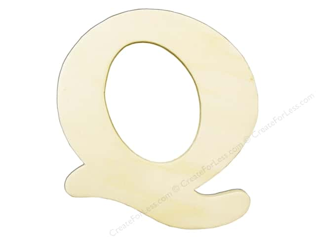 "Darice Unfinished Wood Letter 4 1/4 in. ""Q"""