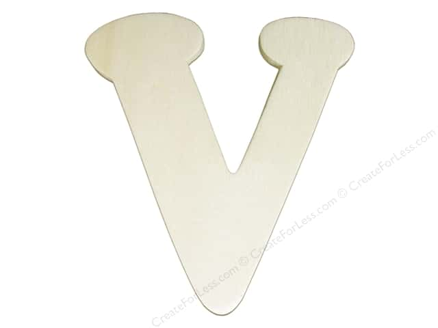 "Darice Unfinished Wood Letter 4 1/4 in. ""V"""