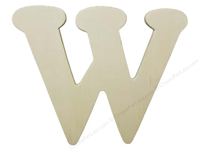 "Darice Unfinished Wood Letter 4 1/4 in. ""W"""