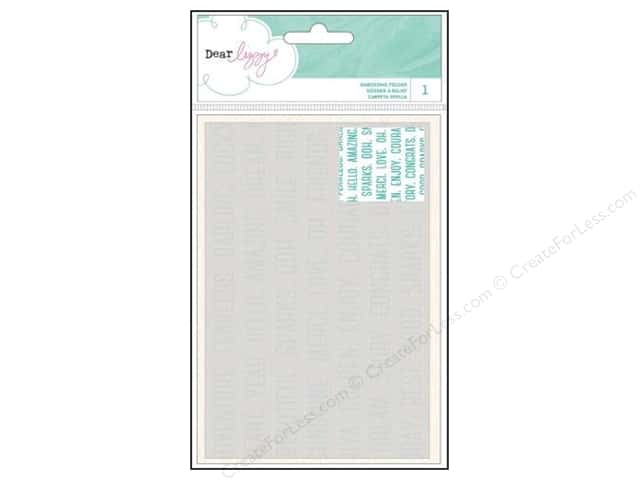 American Crafts Embossing Folder Dear Lizzy Serendipity