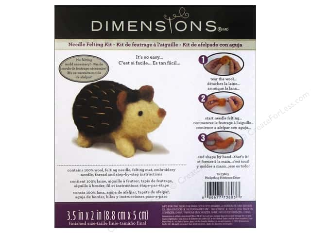 Dimensions Needle Felting Kit Hedgehog