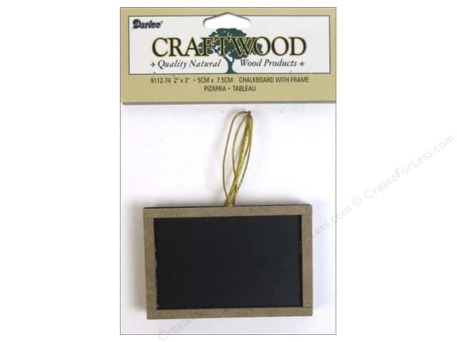 Darice Chalkboard with Wood Frame 2 x 3 in. 3 pc.