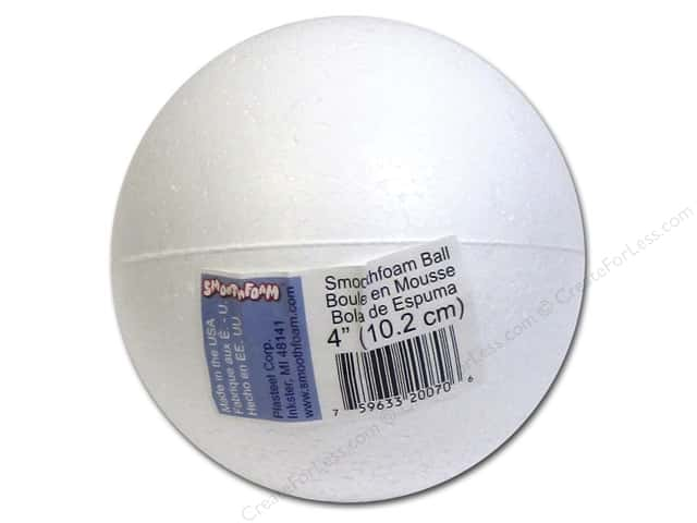 Smoothfoam Ball Bulk 4 in. White 1 pc