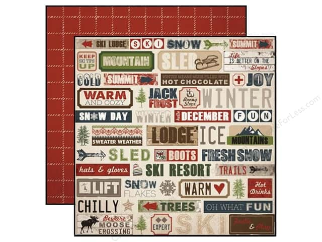 Carta Bella 12 x 12 in. Paper Warm And Cozy Snow Day (25 sheets)