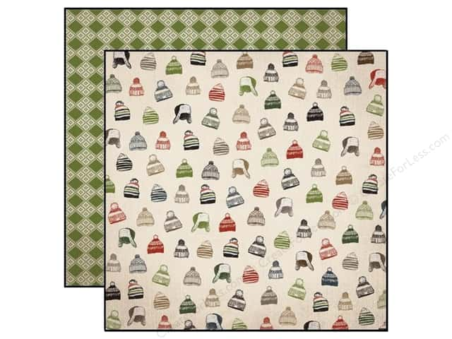Carta Bella 12 x 12 in. Paper Warm And Cozy Winter Hats (25 sheets)