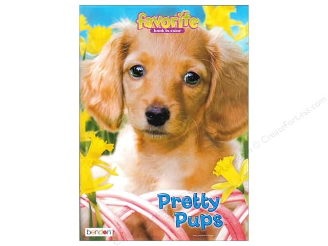 Bendon Favorite Coloring Pretty Pups Book