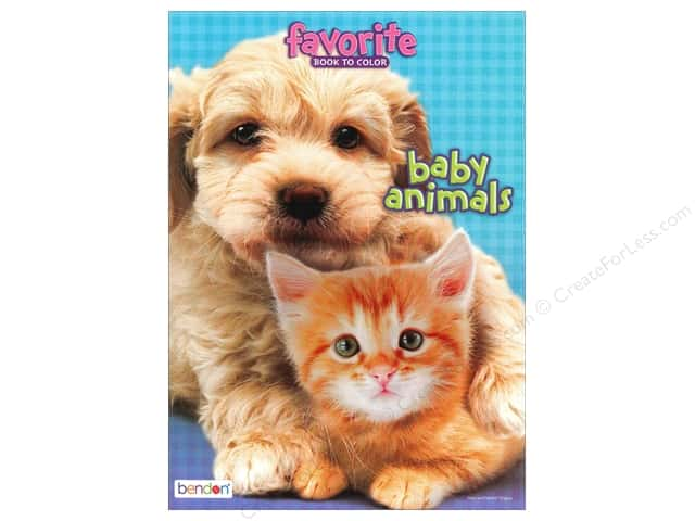 Bendon Favorite Coloring Baby Animal Book
