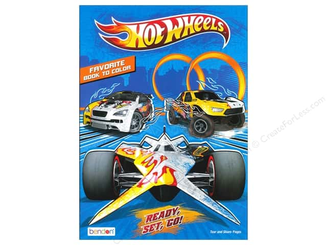 Bendon Favorite Coloring Book Hot Wheels