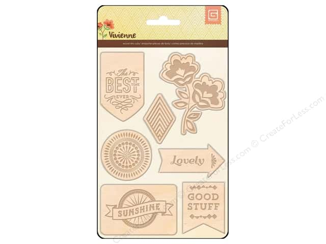 BasicGrey Laser Cut Wood Stickers Vivienne